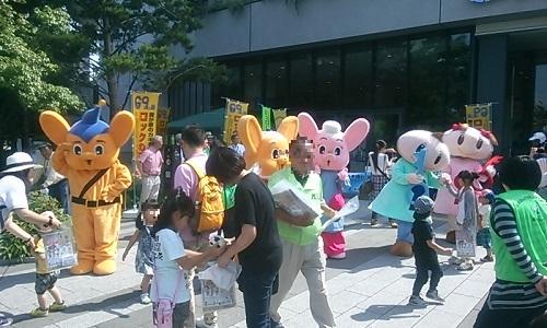 東京スカイツリーでの防犯活動
